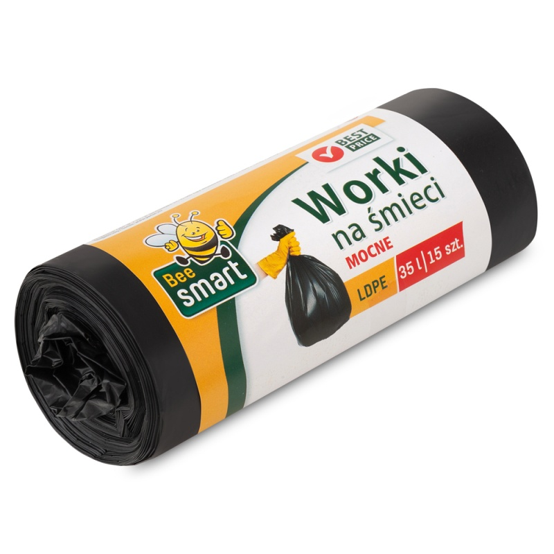 Bin Liners 35l Idpe Bee Smart a-15 black 242321