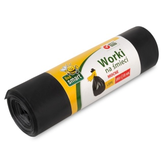 Bin Liners 160l ldpe Bee Smart a-10 black 242360