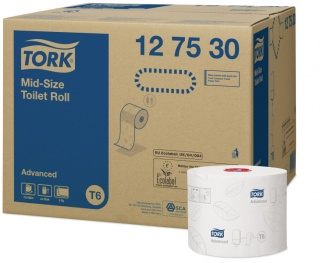 Tork Mid-Size Toilet Roll Advanced- Automatic 127530 100 m