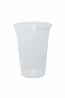 Plastic cup transparent PP 400 ml E300131 a-50