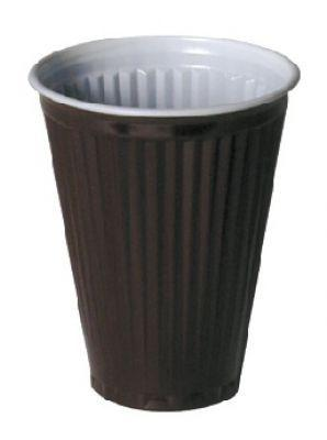 Plastic cup Brown PS 180 ml X37501 a-100